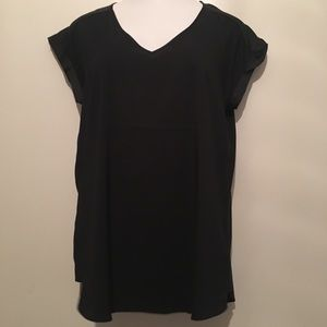 Express black v neck short sleeve blouse. NWT